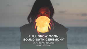 Full Snow Moon Sound Bath Ceremony @ Float State